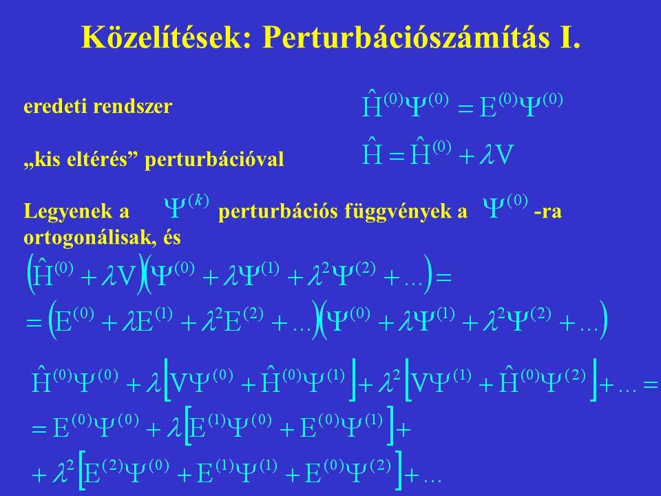 Közelítések: Perturbációszámítás I.