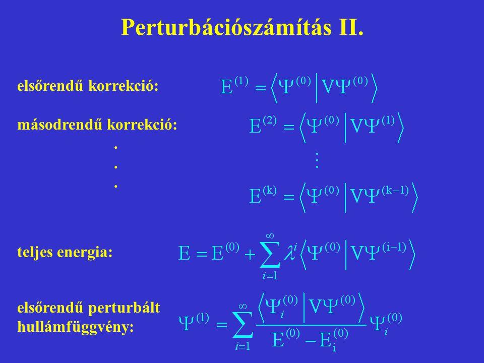 Perturbációszámítás II.