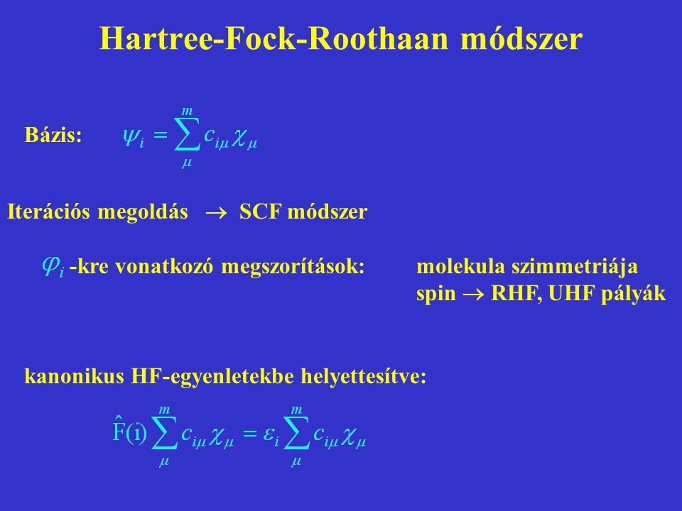 Hartree-Fock-Roothaan módszer