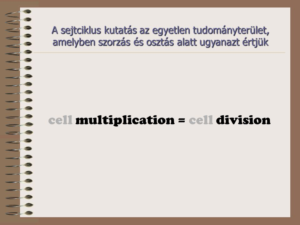 cell multiplication = cell division
