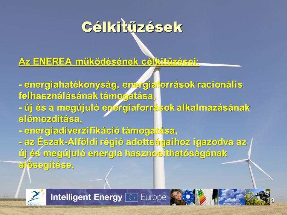 Célkitűzések Az ENEREA működésének célkitűzései: