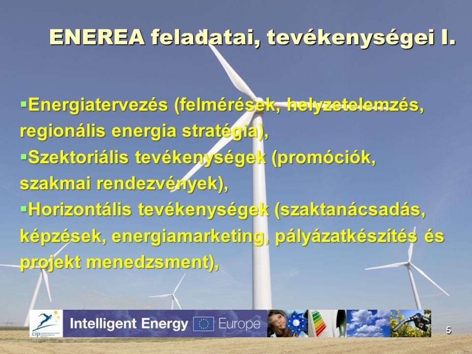ENEREA feladatai, tevékenységei I.