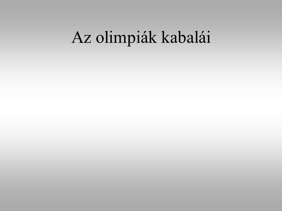Az olimpiák kabalái