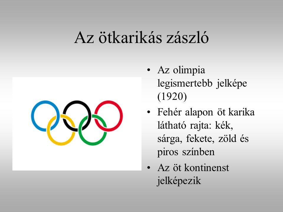 Az ötkarikás zászló Az olimpia legismertebb jelképe (1920)
