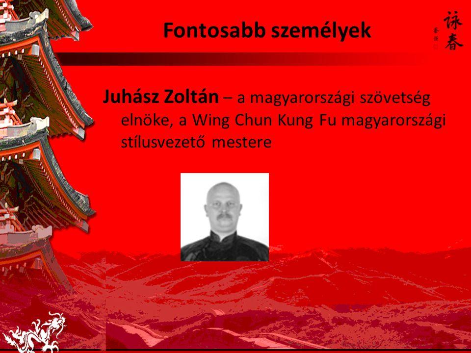 Fontosabb személyek Juhász Zoltán – a magyarországi szövetség elnöke, a Wing Chun Kung Fu magyarországi stílusvezető mestere.