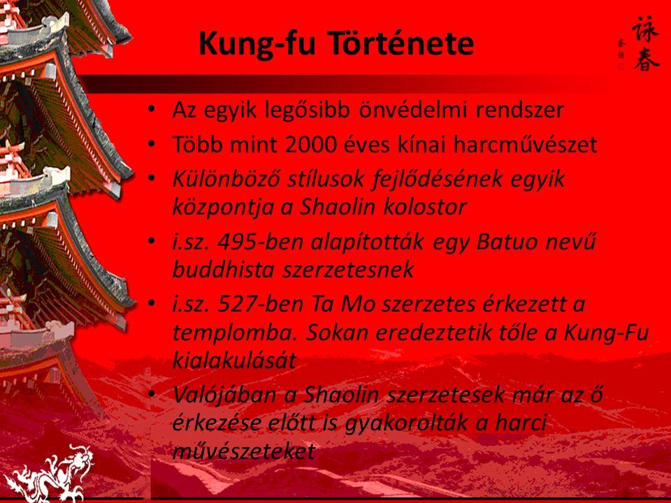 Kung-fu Története Az egyik legősibb önvédelmi rendszer