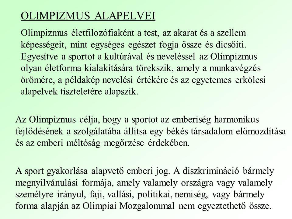 OLIMPIZMUS ALAPELVEI