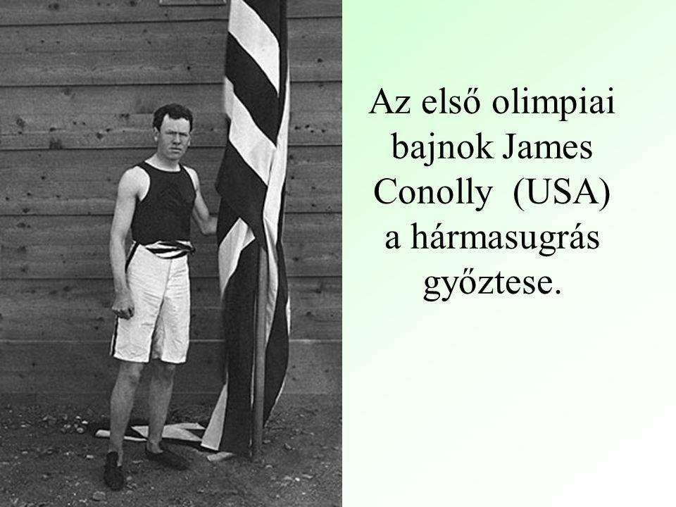 Az első olimpiai bajnok James Conolly (USA) a hármasugrás győztese.