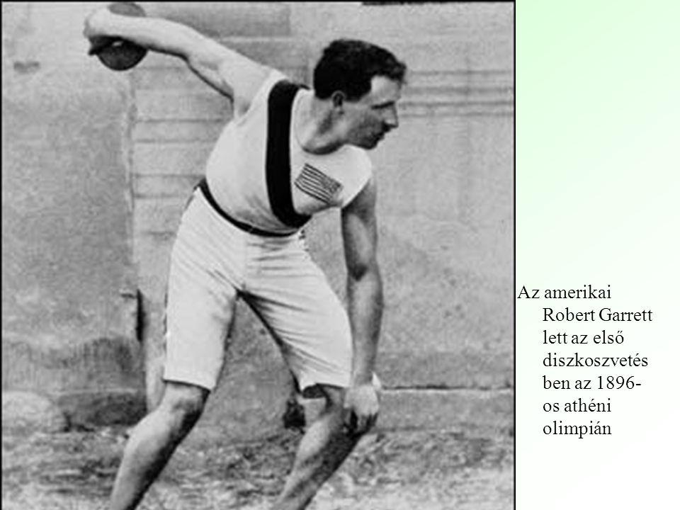 Az amerikai Robert Garrett lett az első diszkoszvetésben az 1896-os athéni olimpián