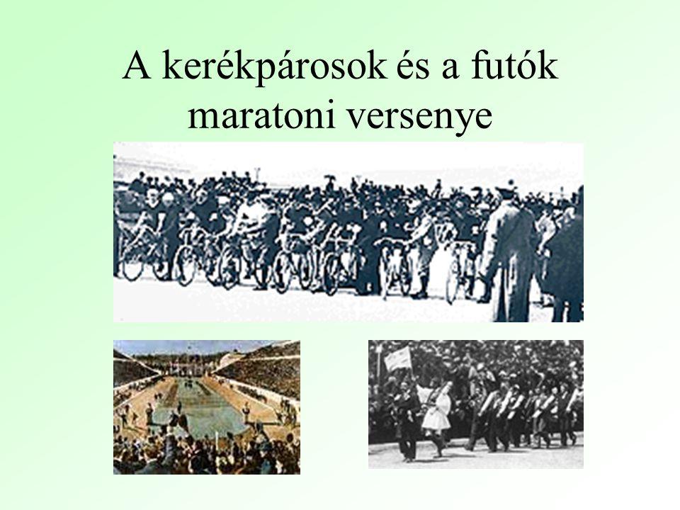 A kerékpárosok és a futók maratoni versenye