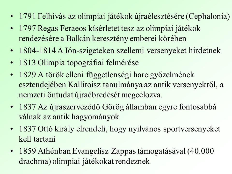 1791 Felhívás az olimpiai játékok újraélesztésére (Cephalonia)