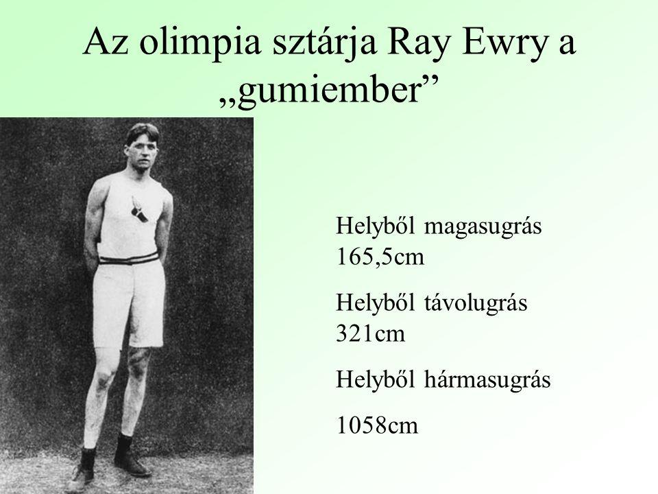 """Az olimpia sztárja Ray Ewry a """"gumiember"""