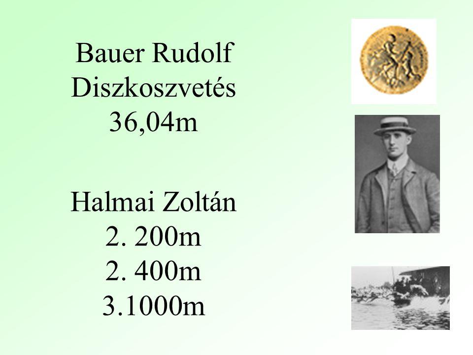 Bauer Rudolf Diszkoszvetés 36,04m