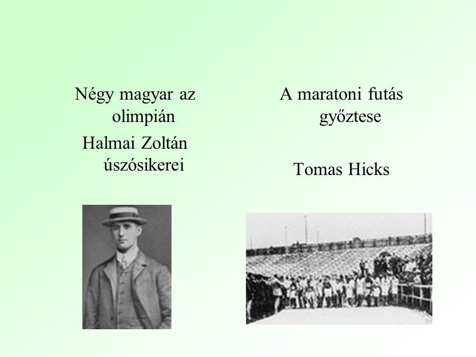 Négy magyar az olimpián Halmai Zoltán úszósikerei