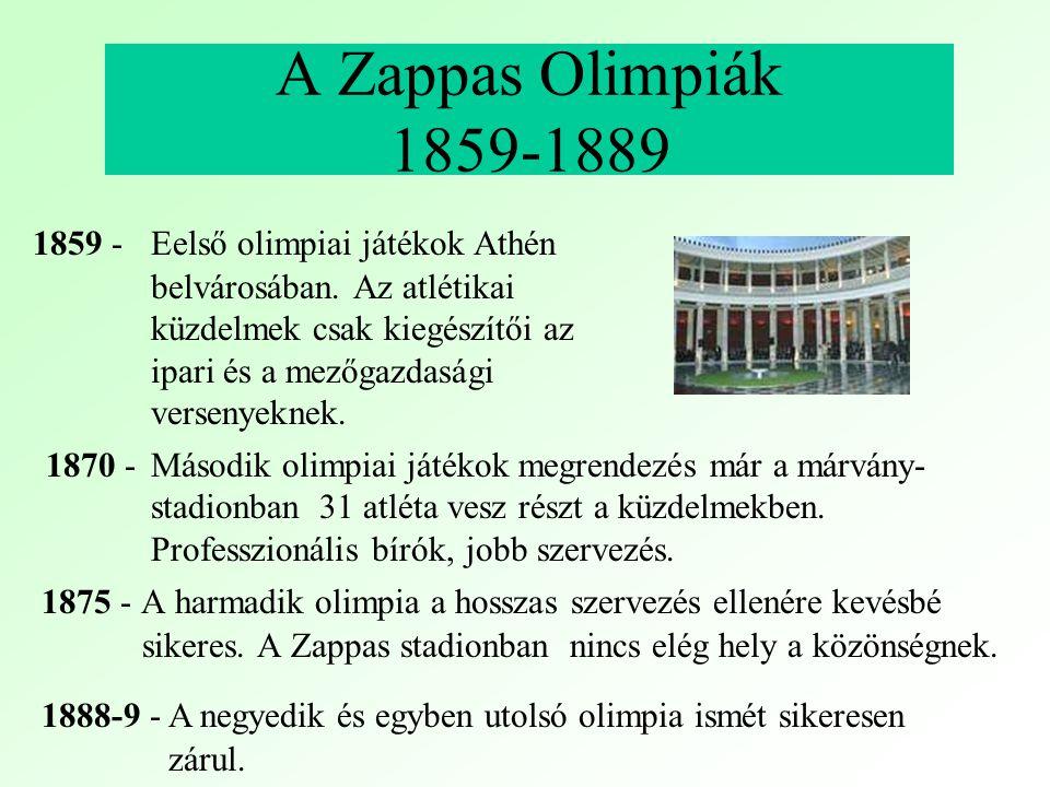 A Zappas Olimpiák 1859-1889