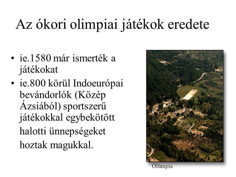 Az ókori olimpiai játékok eredete