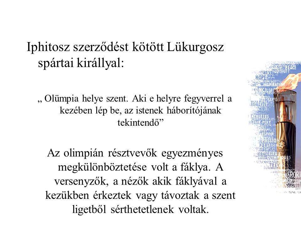Iphitosz szerződést kötött Lükurgosz spártai királlyal: