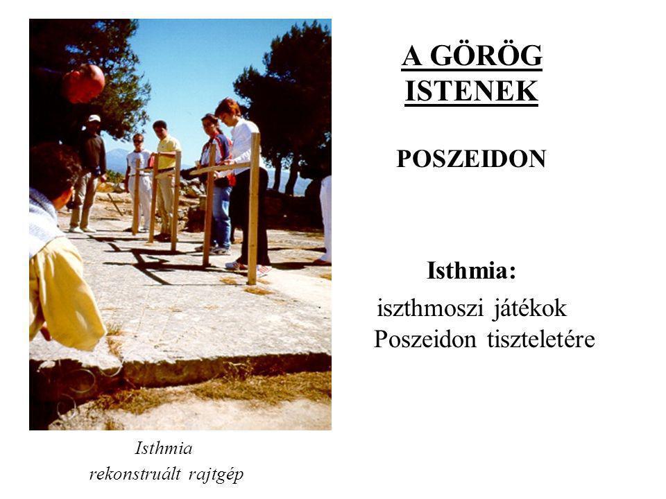iszthmoszi játékok Poszeidon tiszteletére