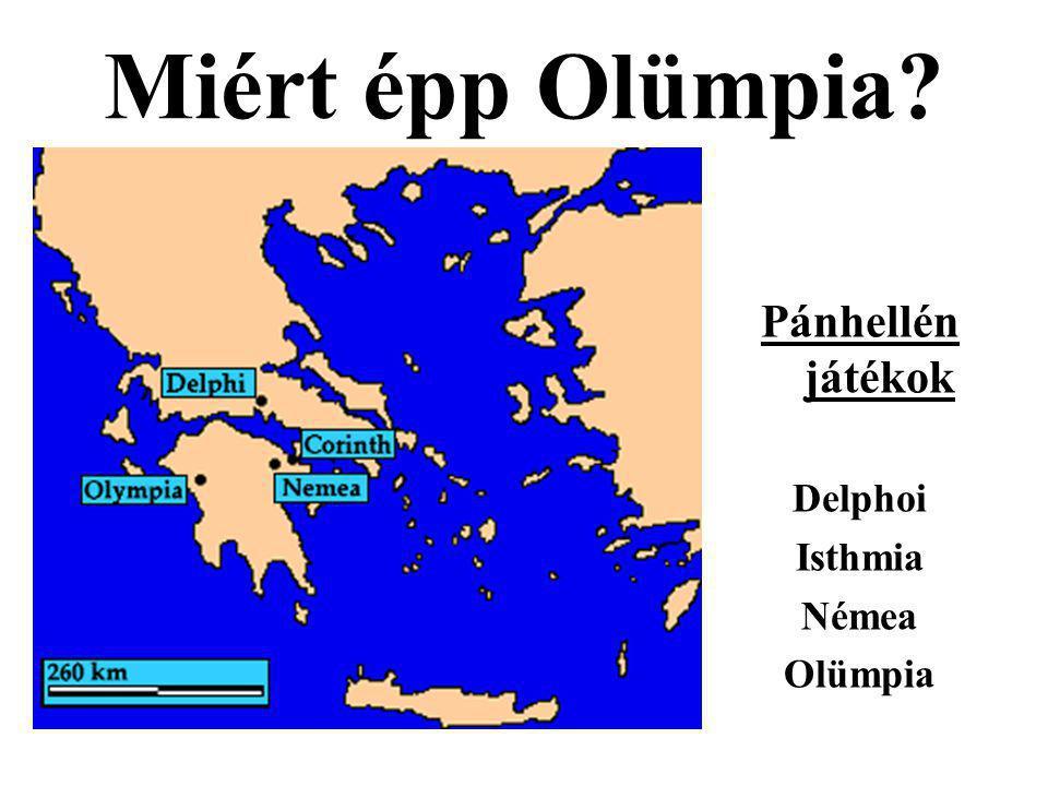 Miért épp Olümpia Pánhellén játékok Delphoi Isthmia Némea Olümpia