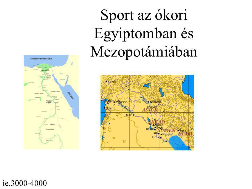 Sport az ókori Egyiptomban és Mezopotámiában
