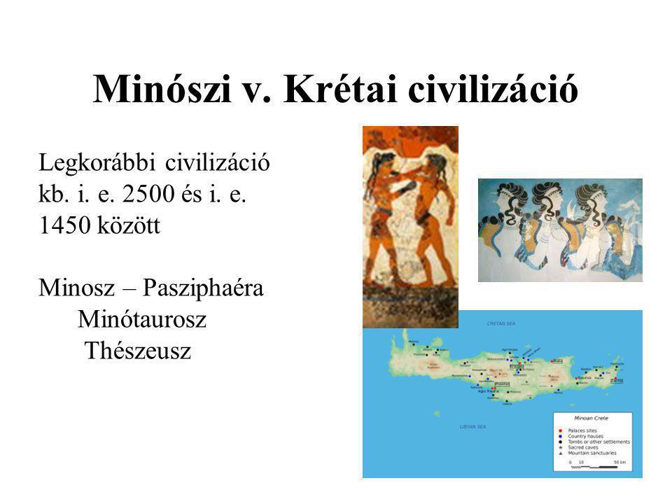 Minószi v. Krétai civilizáció