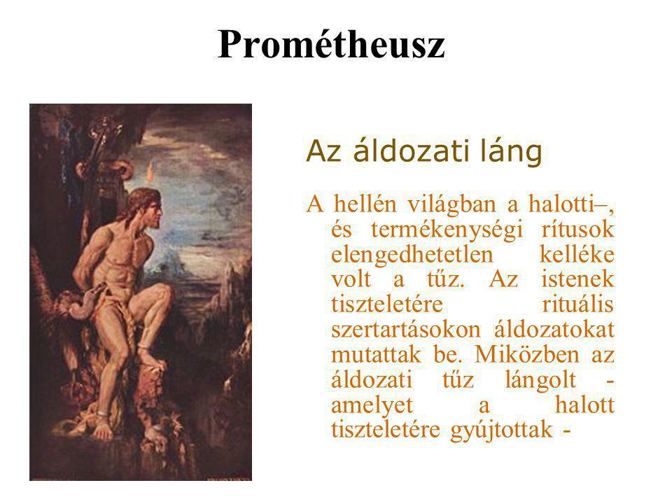 Prométheusz Az áldozati láng