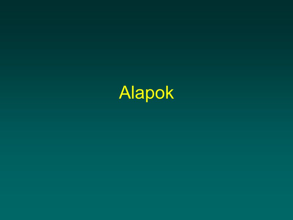 Alapok