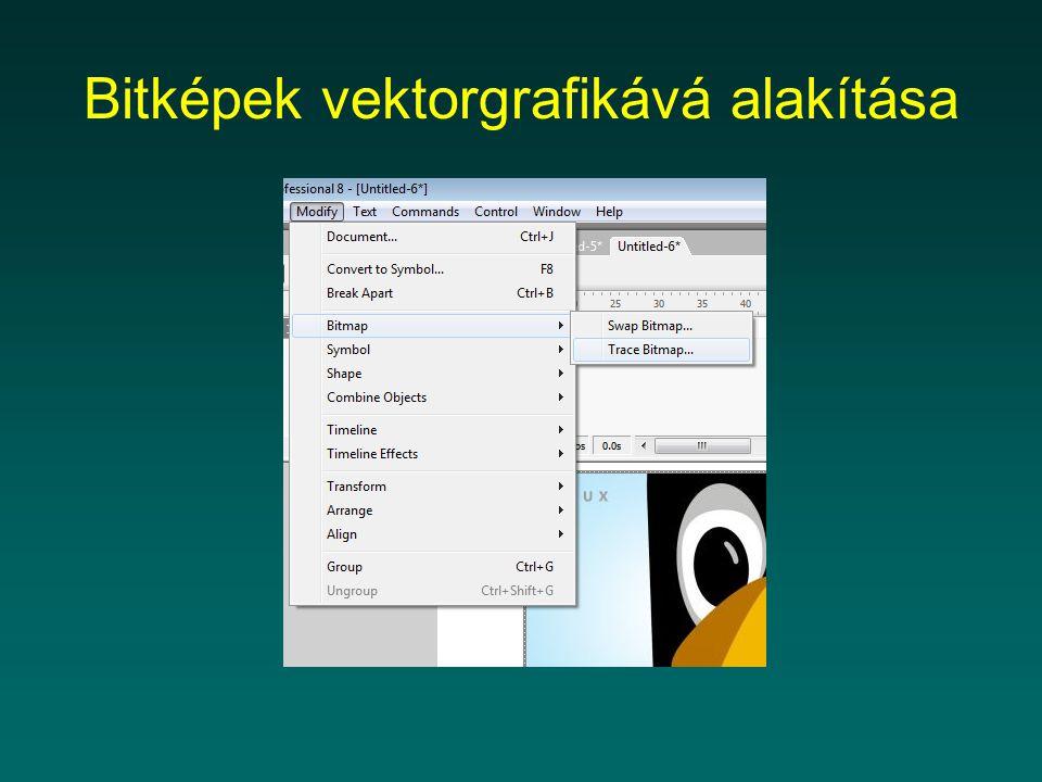 Bitképek vektorgrafikává alakítása
