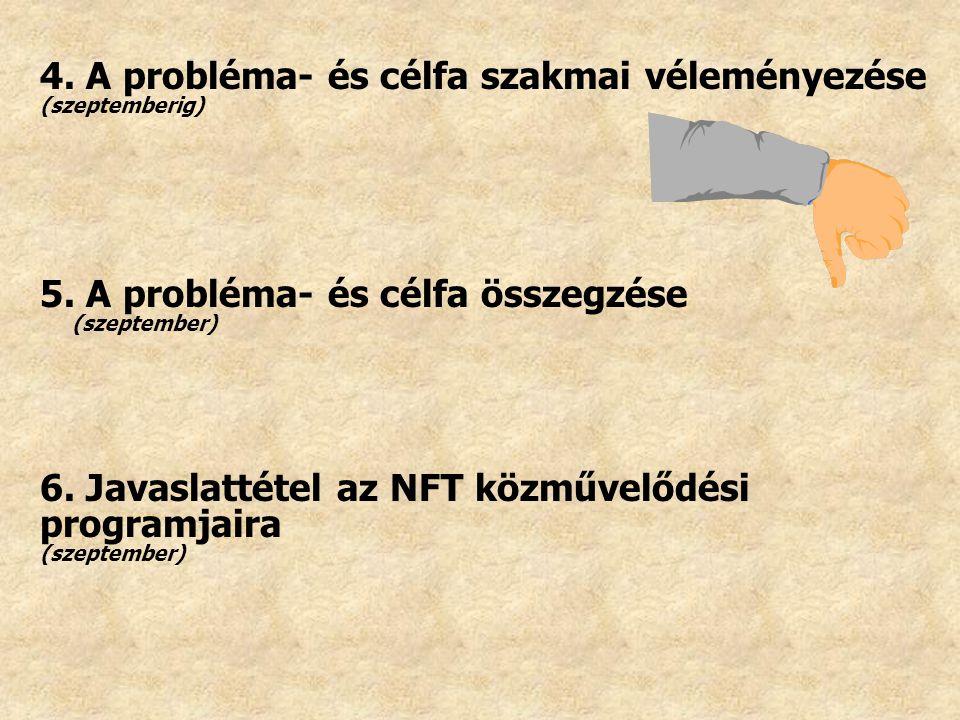 4. A probléma- és célfa szakmai véleményezése