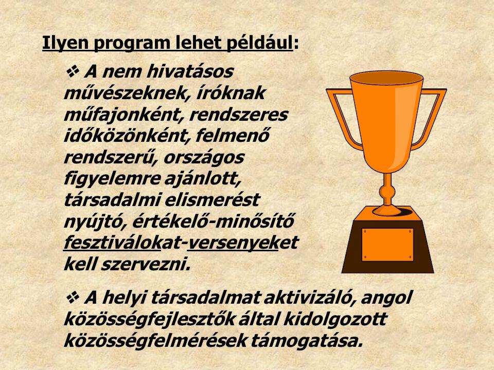 Ilyen program lehet például: