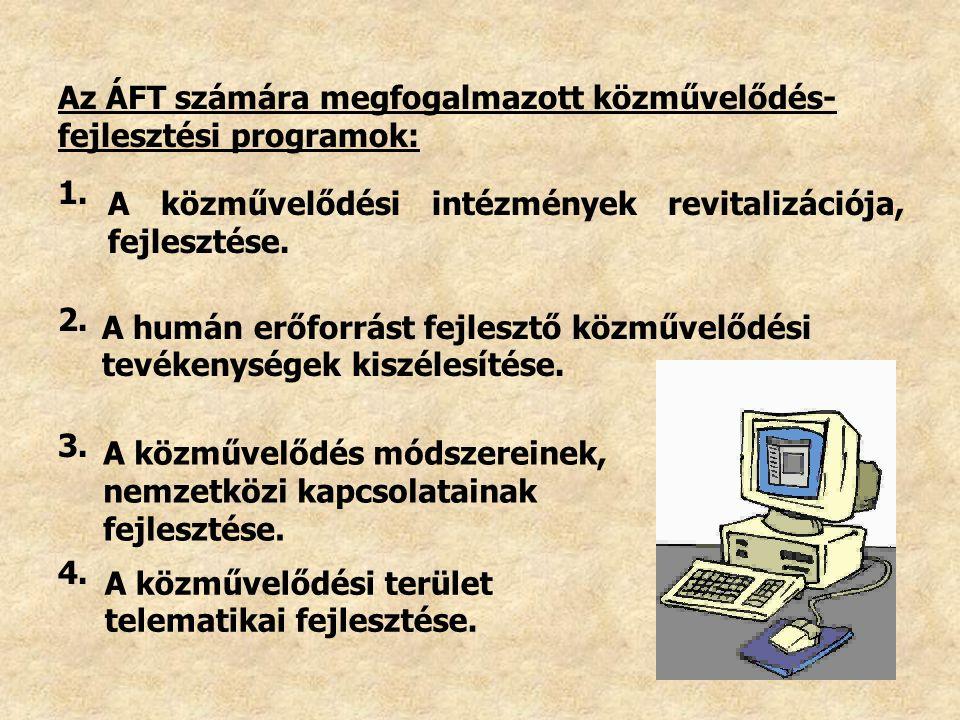 Az ÁFT számára megfogalmazott közművelődés-fejlesztési programok: