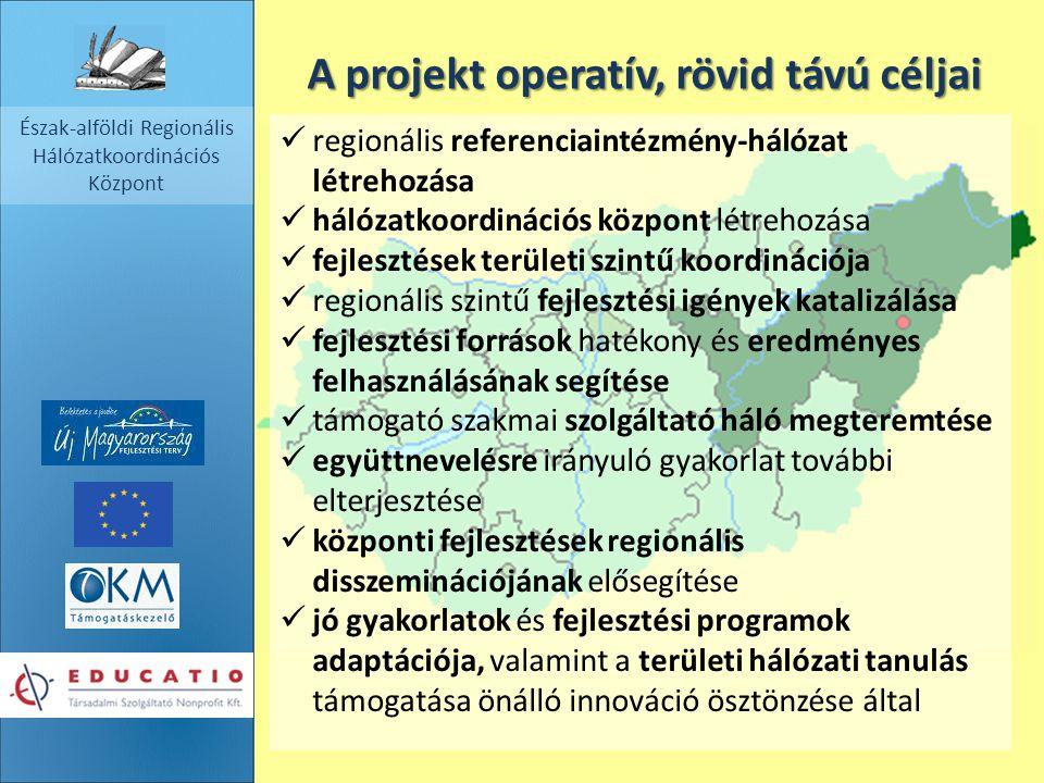 A projekt operatív, rövid távú céljai