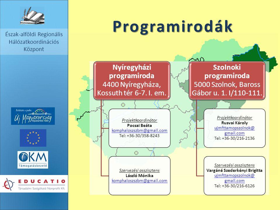 Programirodák Nyíregyházi programiroda 4400 Nyíregyháza, Kossuth tér 6-7. I. em.