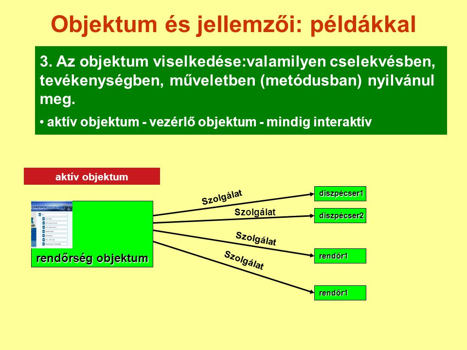 Objektum és jellemzői: példákkal