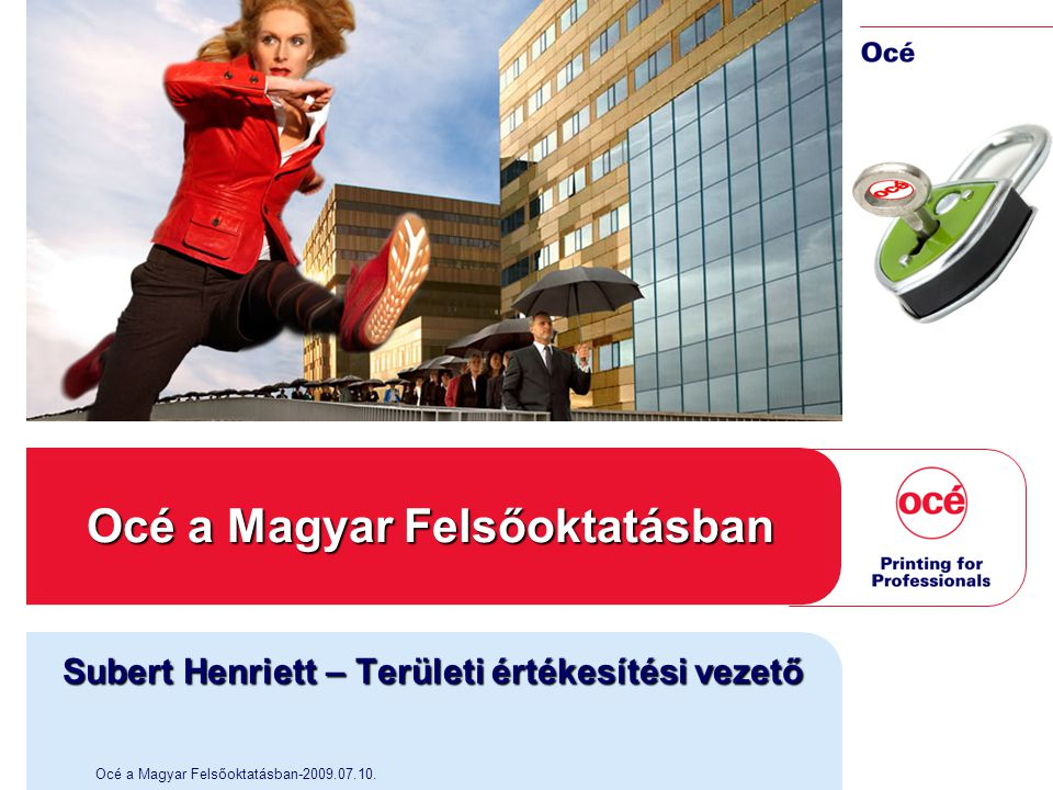 Océ a Magyar Felsőoktatásban