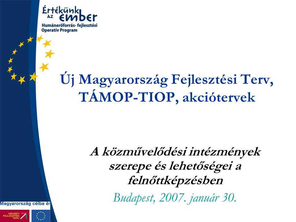 Új Magyarország Fejlesztési Terv, TÁMOP-TIOP, akciótervek