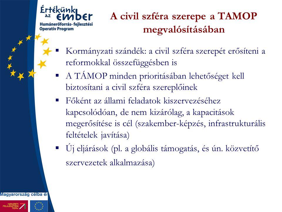 A civil szféra szerepe a TAMOP megvalósításában