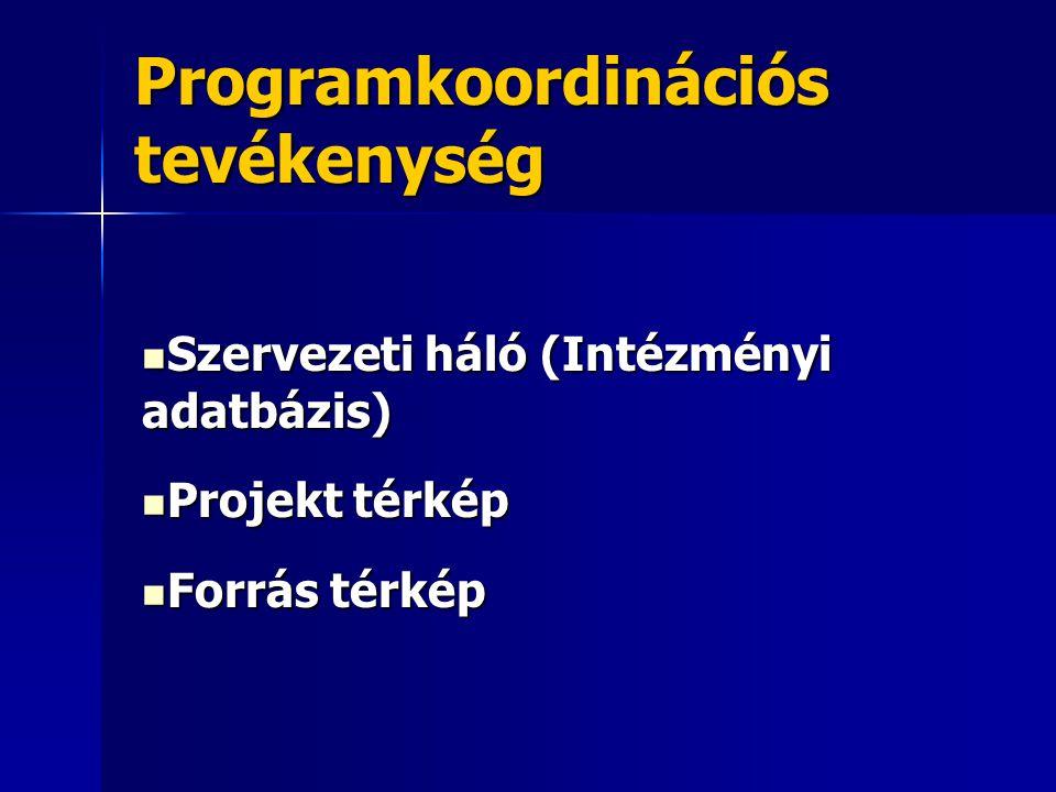 Programkoordinációs tevékenység