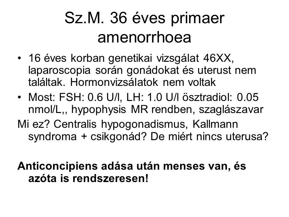 Sz.M. 36 éves primaer amenorrhoea