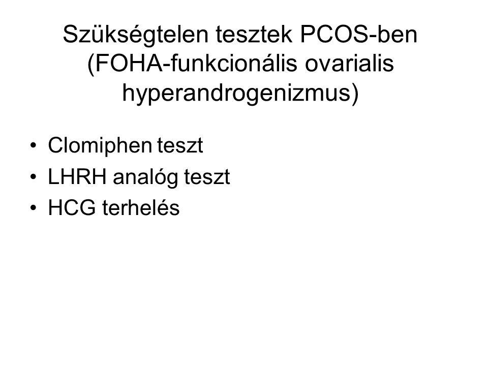 Szükségtelen tesztek PCOS-ben (FOHA-funkcionális ovarialis hyperandrogenizmus)