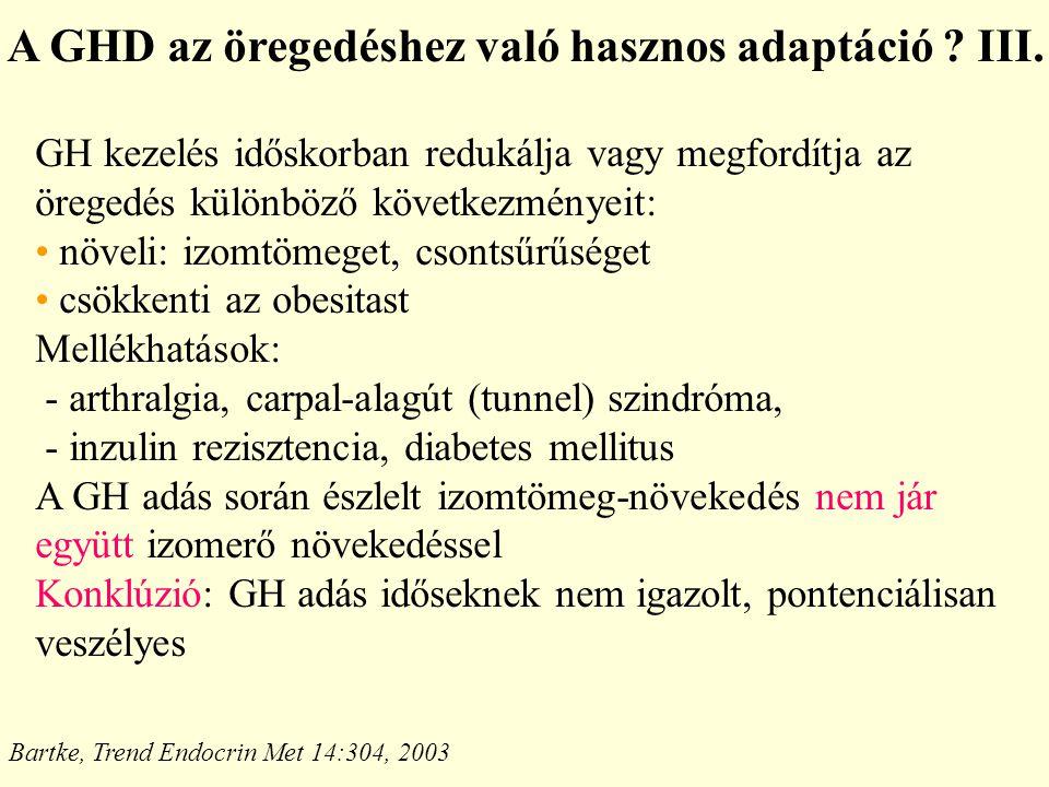 A GHD az öregedéshez való hasznos adaptáció III.