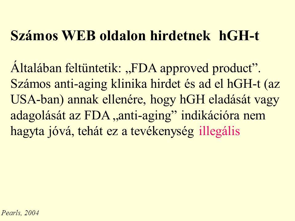 Számos WEB oldalon hirdetnek hGH-t