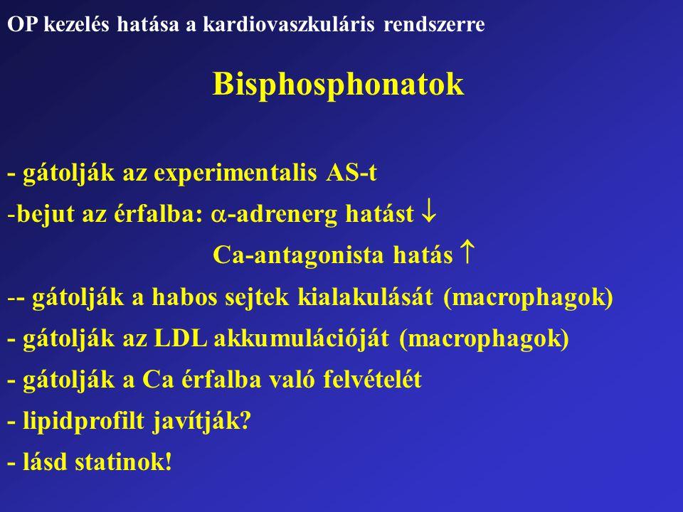 Bisphosphonatok - gátolják az experimentalis AS-t