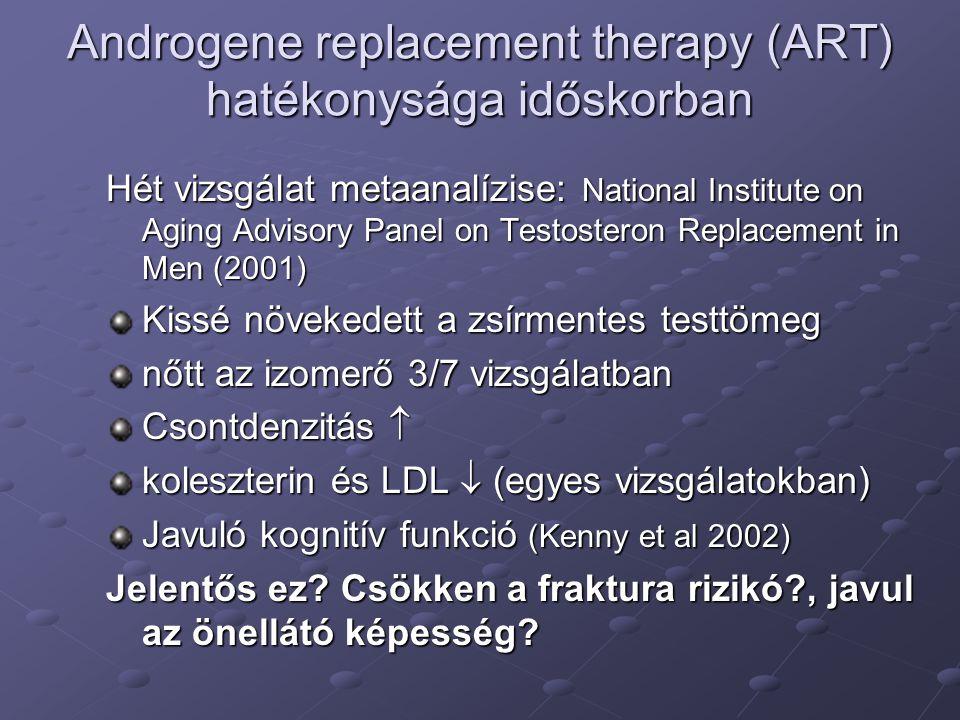 Androgene replacement therapy (ART) hatékonysága időskorban