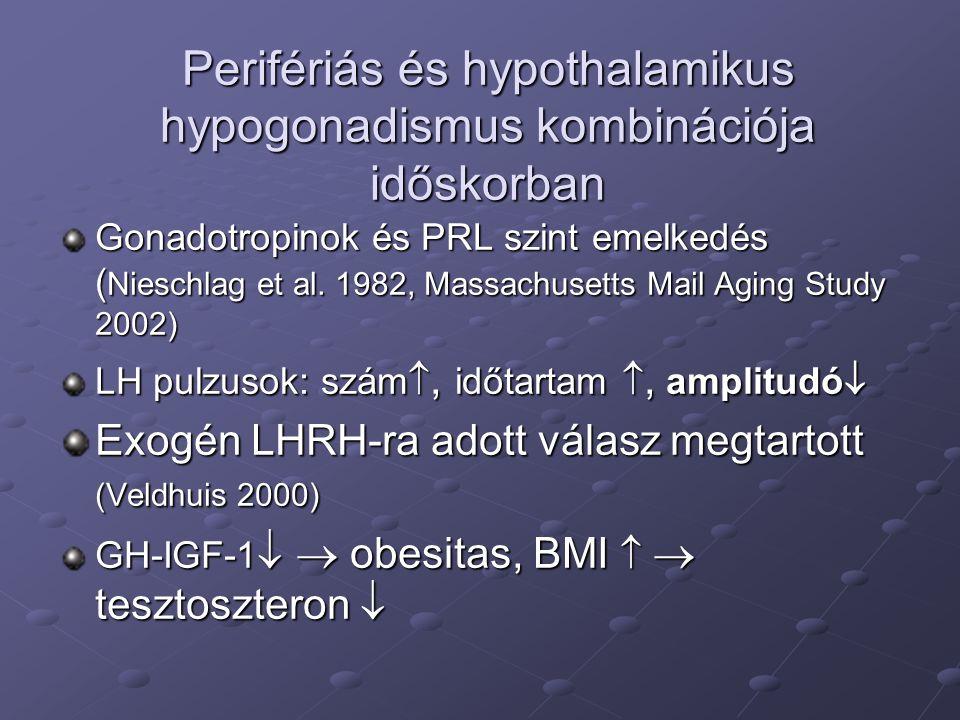 Perifériás és hypothalamikus hypogonadismus kombinációja időskorban