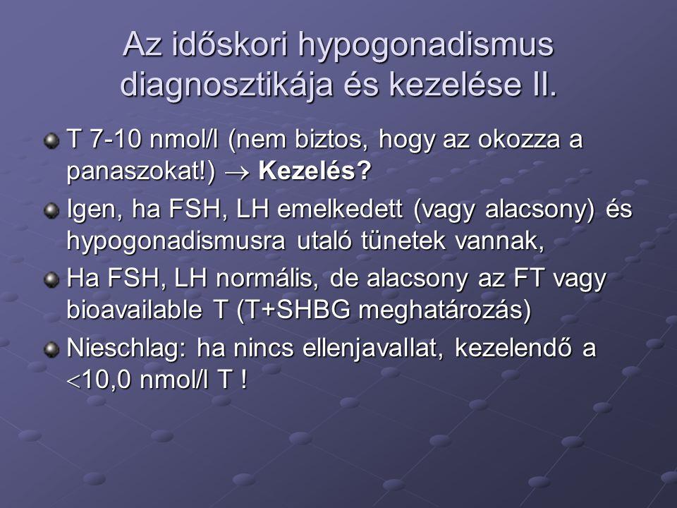 Az időskori hypogonadismus diagnosztikája és kezelése II.