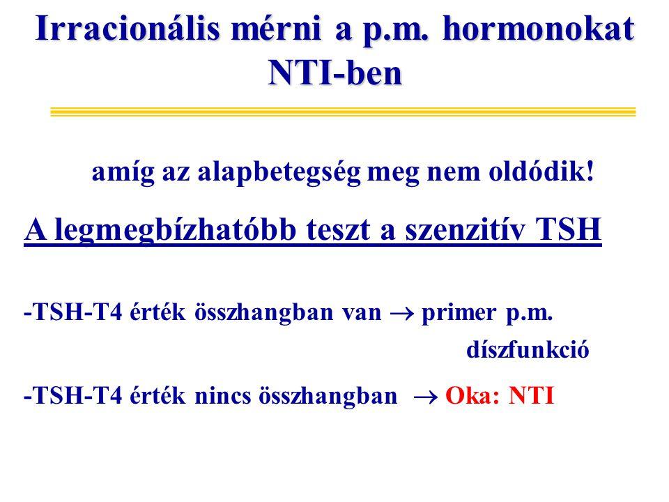 Irracionális mérni a p.m. hormonokat NTI-ben