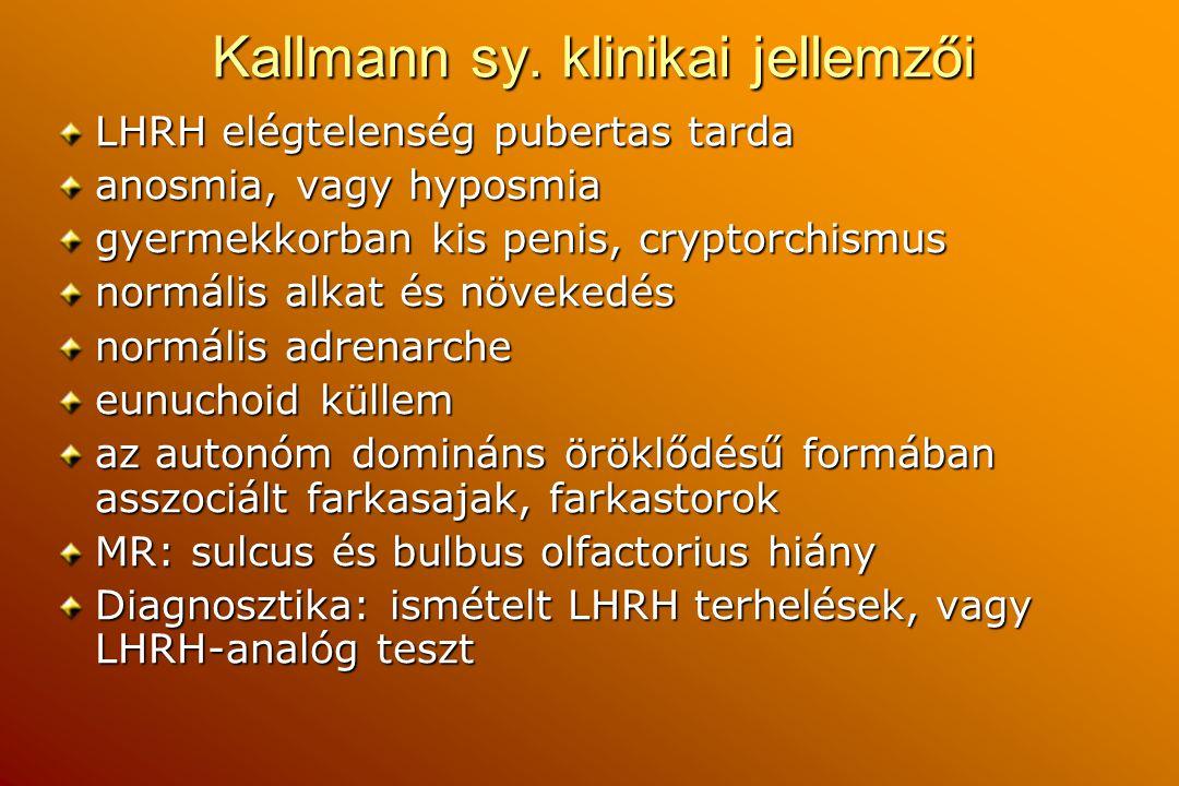Kallmann sy. klinikai jellemzői