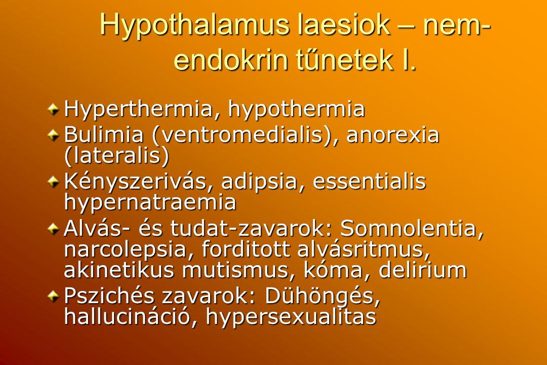 Hypothalamus laesiok – nem-endokrin tűnetek I.
