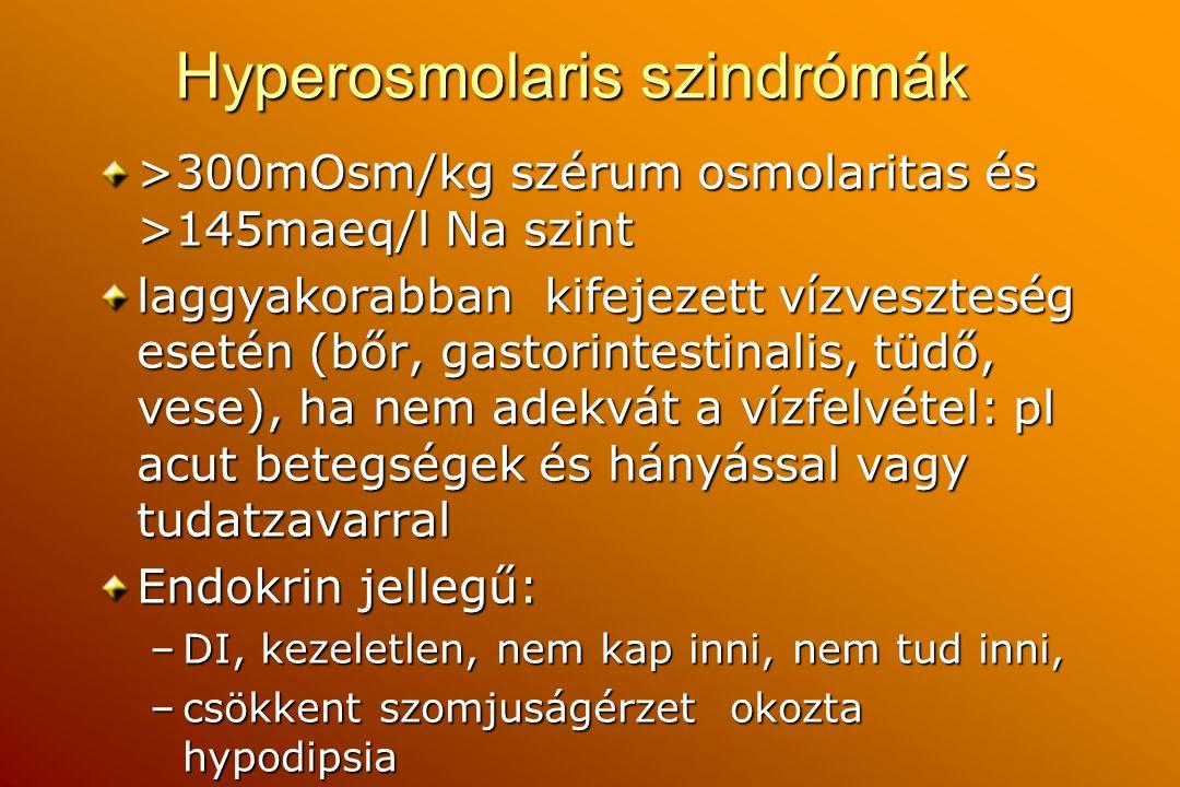 Hyperosmolaris szindrómák